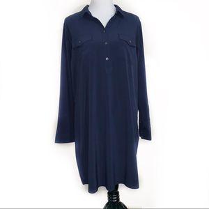 Eddie Bauer Navy Button Up XL Dress